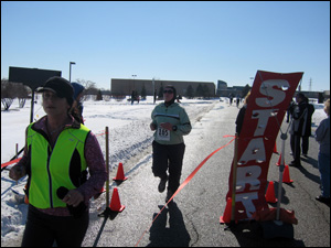 <image:Kim sprinting to the finish;