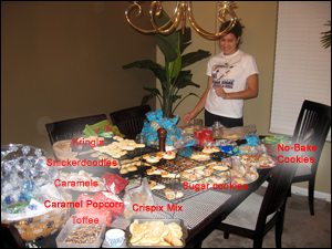 <image: All the cookies we made>