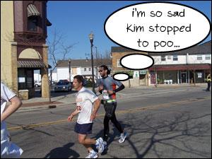 image: Steven runng alone