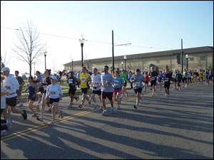 image: Beginning of the Half Marathon
